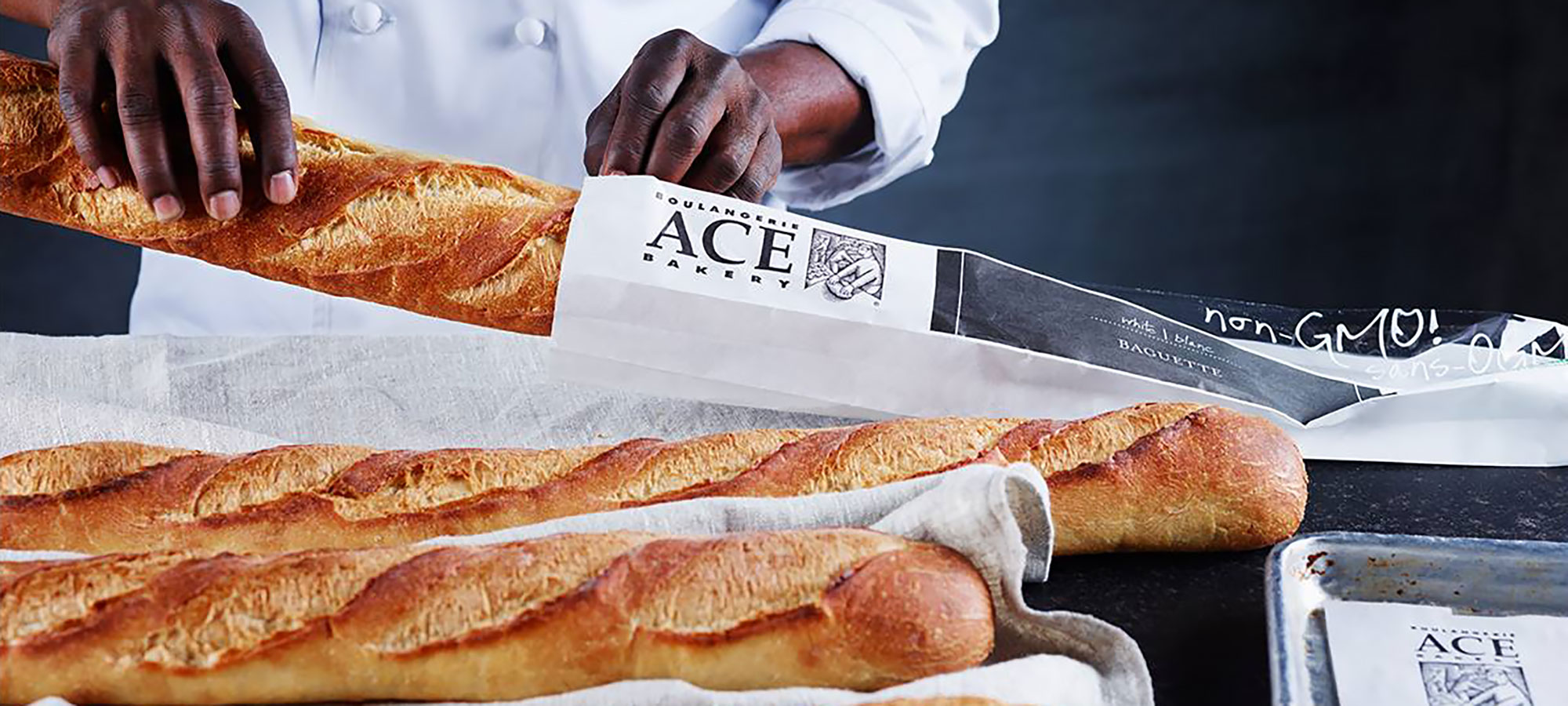 ACE Bakery white baguettes