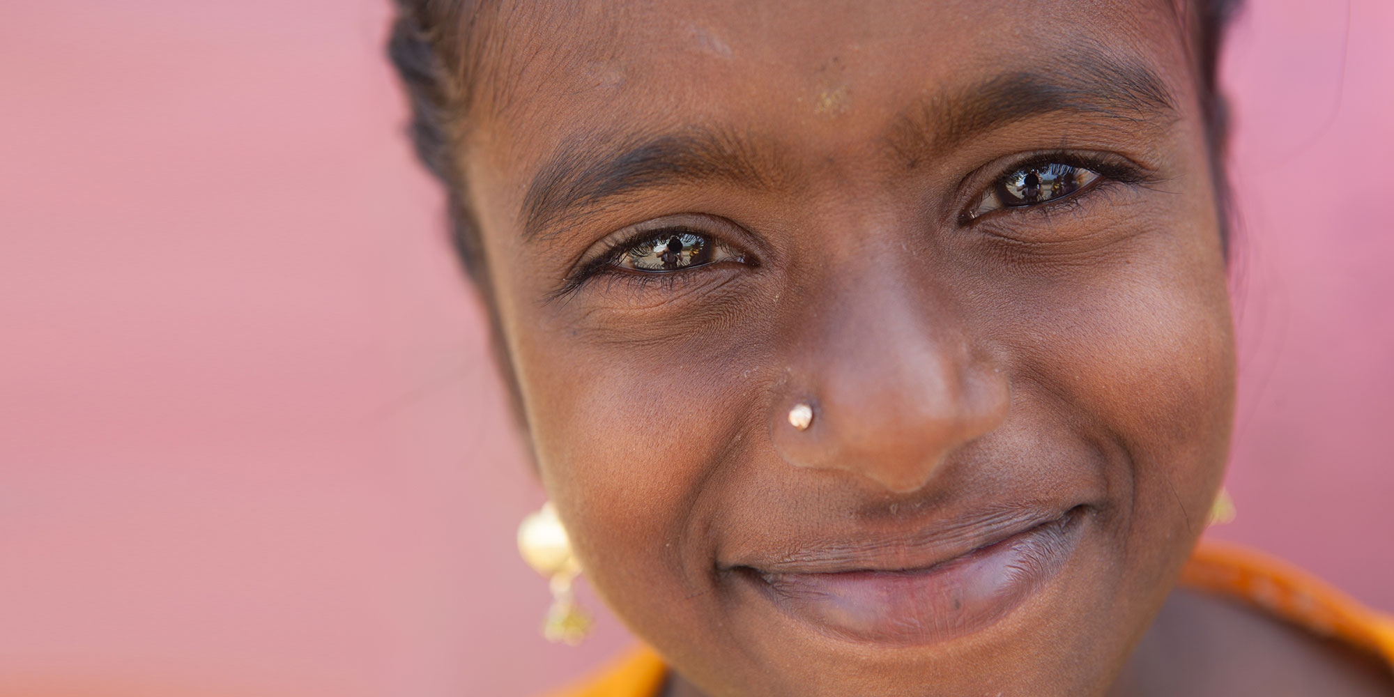 Young India girl with nose ring.